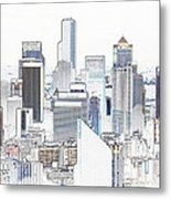 Seattle City Original Work Metal Print
