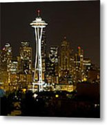 Seattle Downtown Skyline Evening Panorama Metal Print