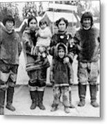 Seattle Eskimo Family Metal Print