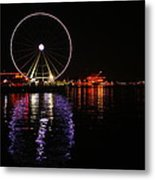 Seattle Ferris Wheel  Metal Print