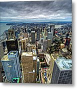 Seattle From Above Metal Print