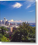 Seattle From Queen Anne Hill Metal Print