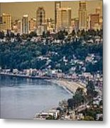 Seattle From The Air Metal Print