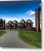 Seattle Gas Light Company Gasification Towers Metal Print