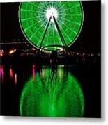 Seattle Great Wheel In Motion Metal Print