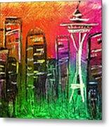 Seattle Land Of Color Metal Print by Melisa Meyers