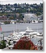 Seattle Marina Metal Print