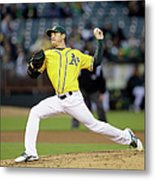 Seattle Mariners V Oakland Athletics Metal Print