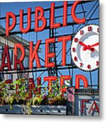 Seattle Market  Metal Print