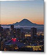Seattle Morning Glow Metal Print