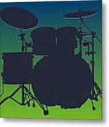 Seattle Seahawks Drum Set Metal Print
