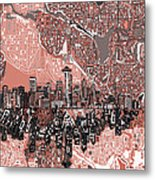 Seattle Skyline Abstract 5 Metal Print