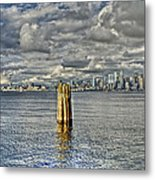Seattle Skyline And Cityscape Metal Print