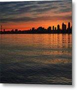 Seattle Skyline At Dawn Metal Print