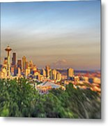 Seattle Skyline Lens Baby Hdr Metal Print