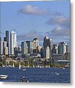 Seattle Skyline On Lake Union Metal Print