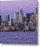 Seattle Skyline Panorama - Massive Metal Print