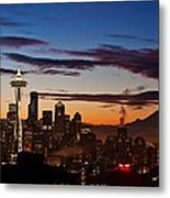 Seattle Sunrise Metal Print
