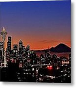 Seattle Sunrise Panorama Metal Print