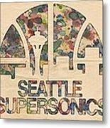 Seattle Supersonics Poster Vintage Metal Print
