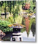 Seattle Tea Garden Reflections Metal Print
