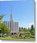 Seattle Temple - Horizontal Metal Print