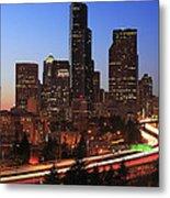 Seattle Traffic Metal Print