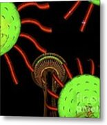 Seattle's Sonic Bloom Metal Print