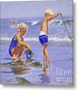 Seaweed Play Metal Print