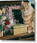 Sebestian And The Old Roses Metal Print
