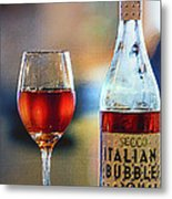 Secco Italian Bubbles Metal Print by Bill Tiepelman