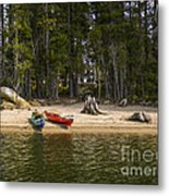 Secluded Beach Camp Metal Print