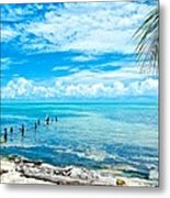 Secluded Beach On Caye Caulker Belize Metal Print