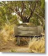 Secluded Bench Metal Print