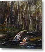 Secluded Boat Launch Metal Print