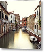 Secluded Canal In Venice Italy Metal Print