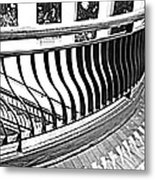 Second Floor In Black And White Metal Print