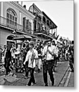 Second Line Parade Bw Metal Print