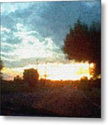 Second Sunset Metal Print