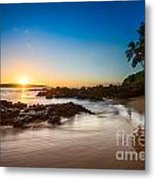 Secret Beach Sunset Metal Print