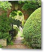 Secret English Garden Metal Print