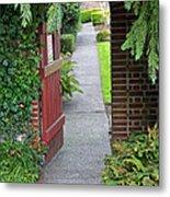 Secret Garden Door Metal Print