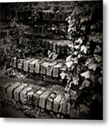 Secret Garden Stairs Metal Print