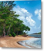 Secret Island Beach Metal Print