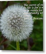 Secret Of Success Metal Print