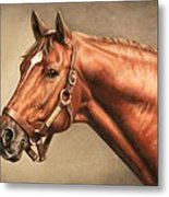 Secretariat At Claiborne Metal Print by Thomas Allen Pauly