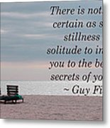 Secrets Of Yourself Metal Print