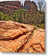 Sedona Arizona Cathedral Rock Metal Print