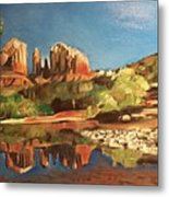 Sedona Cathedral Rock Metal Print