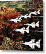 Sedona Thunderbirds Metal Print by Benjamin Yeager